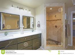 Master Toilet Design Master Bathroom Design With Double Vanity And Walk In Shower