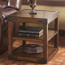 beautiful ashley furniture end tables coffee tables for signature design by ashley shepherdsville rustic brown