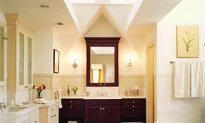 lighting in a bathroom. In This Bathroom For A Master Suite Addition To Tudor-style Home, Most Lighting U