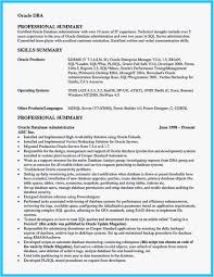 Pl Sql Developer Resume 3 Years Experience Examples Dba Resume
