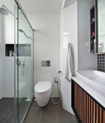 if you re going for a full glass shower enclosure opt for a sliding door that requires less room compared to a hinged one