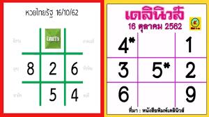 เลขเด็ด หวยไทยรัฐ+หวยเดลินิวส์ งวดประจำวันที่16ตุลาคม