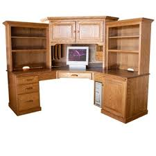 corner desk hutch on computer with at ergonomicoffices net corner computer desk with hutch w41