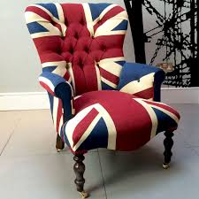 winston union jack vintage style armchair high quality drill cotton union jack