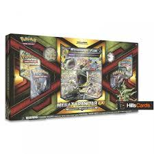 Pokemon Trading Card Game Pokemon TCG Mega Tyranitar EX Premium Collection  Box: Booster Packs +Promo Cards - Trading Card Games from Hills Cards UK