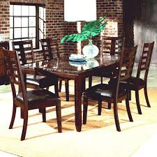 7 Piece Dining Set with Faux Marble Top Bella by Standard