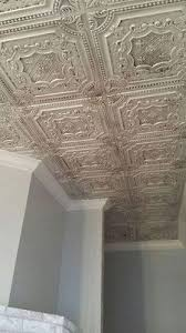 sagging tin ceiling tiles bathroom: dct  faux tin ceiling tile is a glue up tile that comes in antique copper