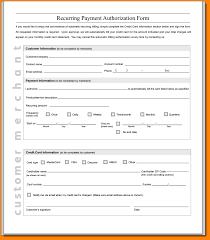 recurring credit card authorization form authorization letter recurring credit card authorization form template