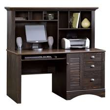 com sauder harbor view computer desk with hutch antiqued white kitchen dining