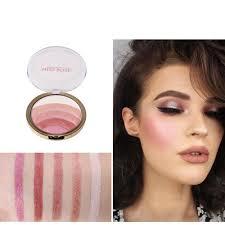miss rose blush palette makeup blusher long lasting shimmer pigment minerals face contour baked bronzer blush makeup palette foundation makeup makeup brands
