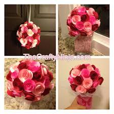 Paper Flower Bouquet Tutorial Paper Rose Bouquet Tutorial Valentines Or Wedding Diy