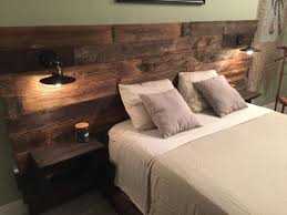 Teds Wood Working - Rustic Headboard Reclaimed Headboard Head board with  Lights Built In Shelf Rustic Lighting Queen Size Headboard King Size  Headbaord Get ...