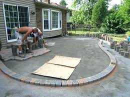 Concrete Patio Designs Layouts Plans Landscaping Gardening Ideas