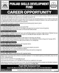 jobs in punjab skills development fund published in nawaiwaqt punjab skills development fund