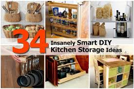 Easy Kitchen Storage 34 Insanely Smart Diy Kitchen Storage Ideas
