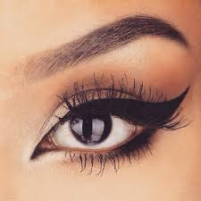 black white dress makeup tips eyes of fashion trends cat eye
