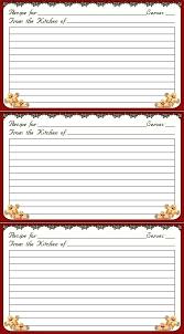 Christmas Recipe Cards Template Printable Christmas Recipe Card Template Livedesignpro Co