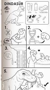 Ikea Instruction Manuals Ikea Trex Dinasur Instructions Get Your Geek On Pinterest