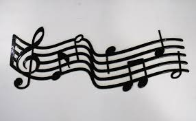 Musical Staff Sign Metal Music Staff Wall Art Music Gift Music Decor Music Room Sign