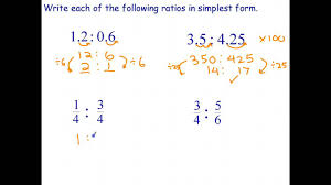 ratios in fraction form simplifying ratios involving decimals and fractions youtube