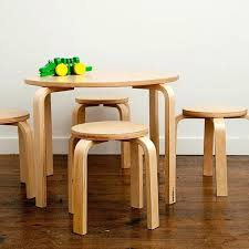 round childrens table chair table wooden table and chair set round kids table activity table wooden