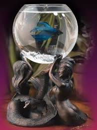 Betta Art Decorative Fish Bowl Gracefully Elegant And Beautiful Small Aquarium on Mermaid 21