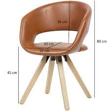 Wohnling Esszimmerstuhl Kunstleder Braun 110 Kg Küchenstuhl Mit Lehne Stuhl