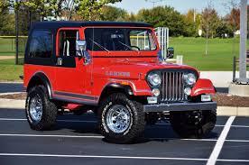 red 1983 jeep cj 7 laredo