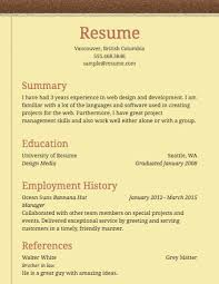 Basic Sample Resume Resume Templates