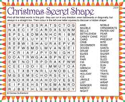 Small Picture Christmas Word Searches For Children Image Gallery HCPR
