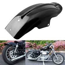 amazon com custom black rear fender mudguard for motorcycle