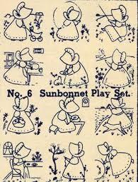 Embroidery Transfers Sunbonnet Sue Quilt Depression1930 ... & Embroidery Transfers Sunbonnet Sue Quilt Depression1930 Adamdwight.com