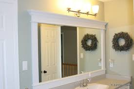 framed bathroom mirrors. Framing A Builder Grade Mirror That Is Not Between Two Walls Framed Bathroom Mirrors 7