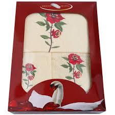 <b>Набор полотенец GRAND</b> TEXTIL «Роза», <b>3 шт</b>. в Новосибирске ...