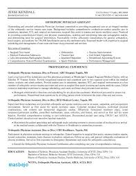 Physician Assistant Resume Template Enchanting Medical Doctor Resume Example 48 Elegant Physician Assistant Resume