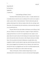 engl mount allison university course hero 4 pages short essay comparing greek myth and modern literature
