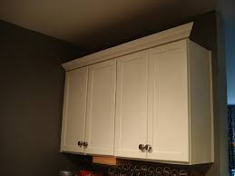Kitchen Crown Molding Adding Crown Molding To Kitchen Cabinets The Small And Chic Home