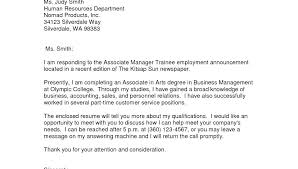 Hotel Management Trainee Resume Cover Letter Sample For Hotel