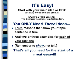 the five paragraph essay a framework for expository writing and  it s easy you only need three ideas