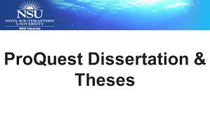 Proquest thesis