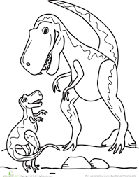 Small Picture T Rex Family Worksheet Educationcom