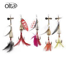 Olta <b>6pcs</b>/Box Spinner <b>Fishing Lures Wobblers</b> CrankBaits Jig ...