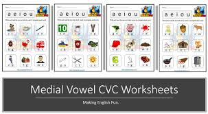A collection of free, printable vowel digraph phonics worksheets highlighting the ou, oo, ow this is a collection of free, printable worksheets for teaching esl students vowel digraph decoding skills. Free Medial Vowel Cvc Phonics Worksheets Making English Fun