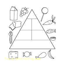 Food Pyramid Coloring Page Healthy Pages Printable Worksheet