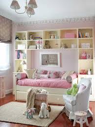 cute pink and white girls bedroom decor