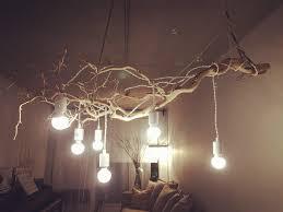 furniture excellent tree branch ceiling light diy wooden shaped lamp fixture creative dandelion chandeliers firework