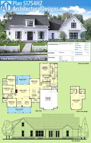 1 5 story house plans with loft best of plan hz modern farmhouse plan with bonus room