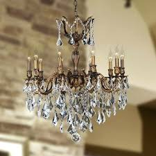 10 light chandelier light antique bronze finish and clear crystal chandelier previous next ambarvale 10 light