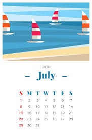 July Calendar Free Vector Art 2341 Free Downloads