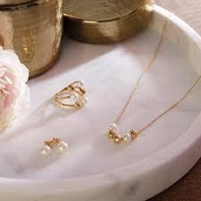 white handmade glass pearls